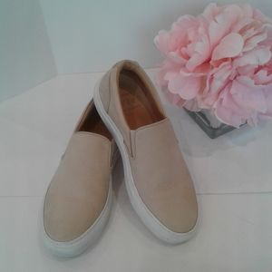 Greats beige leather slip on shoes made in Italy